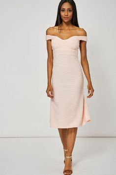 Peach Sweetheart Off Shoulder Dress