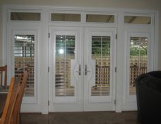 Exterior doors with blinds french patio 55 ideas for 2019 House Paint Interior, Interior Shutters, Interior Barn Doors, Interior Design, Wood Shutters, Double Doors Exterior, Sliding Patio Doors, Entry Doors, Garage Exterior