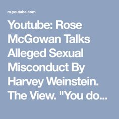 """Youtube: Rose McGowan Talks Alleged Sexual Misconduct By Harvey Weinstein. The View. """"You don't want to hear a woman's opinion, call her hysterical, crazy- they all do thst."""" """"Women are mysoginists too."""" (100%) Most amazing, brilliant & courageous person I've ever heard speak. I wish all of us, women, men, non-specific alike, could own our voices and be as brave as her. #SoMuchRespect #RoseArmy #MeToo <3 her intense brutal honesty, faith that things can change for the better, if all just be…"""