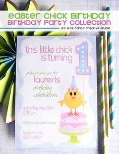perfect idea for an EASTER birthday - Lil Chicks @eyecandycreate #easter #easterbirthday #lilchicks