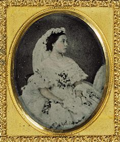 Victoria, Princess Royal, in her wedding dress    25 January 1858