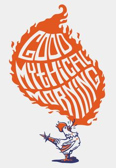 Gmm or good mythical morning is a daily talk show. Good Mythical Morning, Markiplier, Band Posters, Best Youtubers, Let Them Talk, Cool Logo, So Little Time, Beast, Geek Stuff