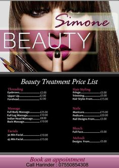Beauty Salon Flyer Design 1