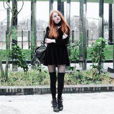 pussycat velvet skater dress