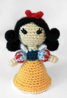 Snow White Princess amigurumi crochet pattern by Sahrit SO CUTE! ($5.00)