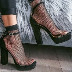 Clear Strap Chunky Platform Heels