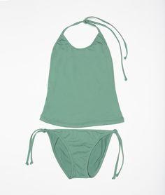 Bikini-camiseta verde | Trajes de baño | Niña | Mini | Nicoli