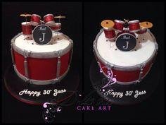 Drum Kit Cake D-licious Cake Art
