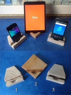 iPhone Stand Wood iPad Dock Ash wood for от artWoodworking