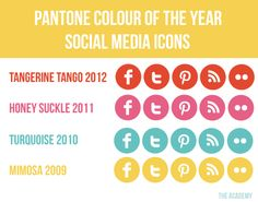 Pantone Color of the Year Social Media Icons