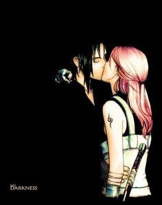 Sasuke and Sakura in Love | haruno, love, naruto, sakura, sasuke
