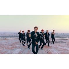 """MONSTA X Releases Special Rooftop MV for """"Hero"""" ❤ liked on Polyvore featuring monsta x and kpop"""