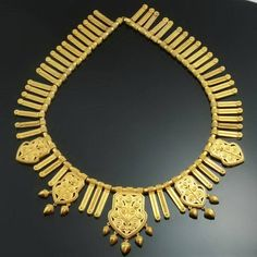 Gold filigree choker necklace rare French by adinantiquejewellery, $31,500.00