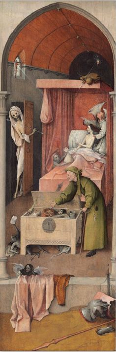 Hieronymus Bosch, Death and the Miser c. 1485/1490 National Gallery of Art, Washington DC