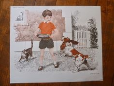 CHAT CHIEN 3  AncienneS AfficheS scolaire MDI LECTURE eLOCUTION maternelle CARTE