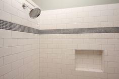subway tile bath | Subway Tile with Mosaic Accent
