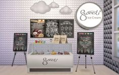 Sweet Ice Cream Set at Ruby's Home Design • Sims 4 Updates