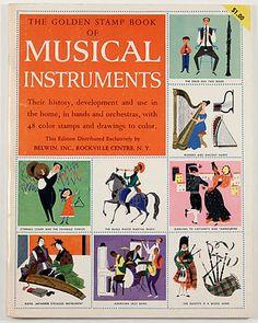 キュリオブックス 【The golden stamp book of musical instruments】