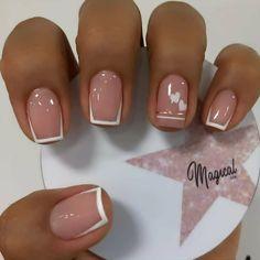 Classy Nails, Stylish Nails, Chic Nails, Trendy Nails, Fun Nails, Cute Short Nails, French Manicure Nails, French Tip Nails, Manicure And Pedicure