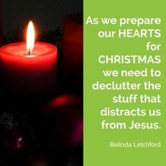 Don't be distracted by our celebrations this Christmas - find time to focus on Jesus