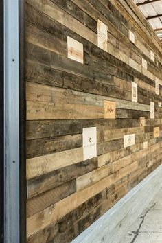 reclaimed wood w/clients