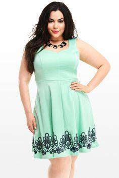 Eliza Embroidered Flare Dress