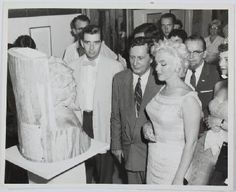 Marilyn looks at some of the Lincoln artwork in Bement, Illinois during their towns centenial/Pres.Lincoln  celebration in 1955. The town invited her to be a guest speaker about the arts. Marilyn happily agreed. Other noted guests during the week long celebration included arthur/poet  Carl Sandburg. Photo By Eve Arnold