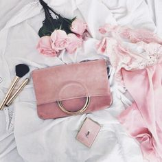 It has been said that pink is the colour of unconditional love 💗(& here, a few of my favourite things, roses and negligees and the Las Salinas Suede Clutch in Ibiza Sunset) Ibiza Sunset, Forex Trading Platforms, Timeless Fashion, Girly Things, Pretty In Pink, Style Icons, Chloe, Glamour, Shoulder Bag