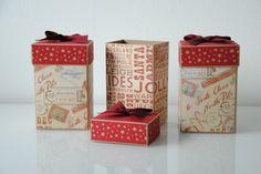 Weihnachtsbox Decorative Boxes, Scrapbooking, Gift Wrapping, Gifts, Paper, Packaging, Gift Wrapping Paper, Presents, Scrapbooks