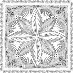 Vicki Ibison Design for Quilting Fire Island Hosta - found on Quiltworx.com