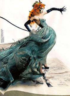 Vogue May 2008  #story #fairytale #magic #wonderland #princess #goddess #dress #dramatic #queen #redhead #butterflies