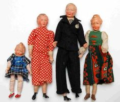 before 1945 caho dolls (from early 50s onwards - caco)