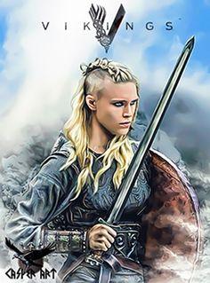 Vikings series Porunn by thecasperart