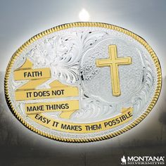Faith. It does not make things easy. It makes them possible.  #buckleup