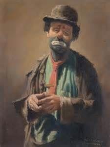 artist barry leighton jones the sad clown famous sad clown paintings Emmett Kelly Clown, Clown Photos, Clown Paintings, Vintage Clown, Send In The Clowns, Clowning Around, Scary Clowns, Light My Fire, Many Faces