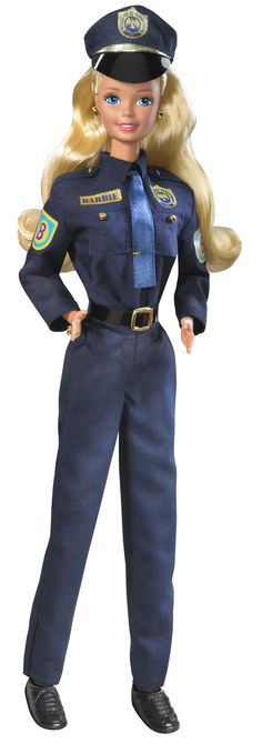 In 1993, Barbie was a police officer. Photo credit: Mattel Inc.