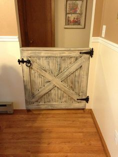 Baby gate | Homemade baby gate finished to look old. | Leslie | Flickr