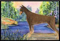 Carolines Treasures Tiger Cub Watercolor Floor Mat 19 x 27 Multicolor