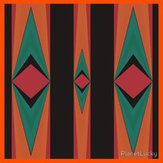 Tribal Red Black Gold Green