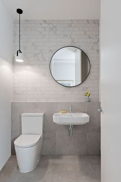 chan architecture have designed a couple of townhouses in melbourne bathroom pendant lightingmodern - Modern Bathroom Toilet