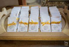 Lenços para Convidados / Decoração de Casamento DIY