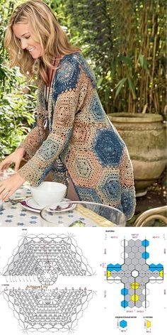 Crochet Cardigan for Summer #crochet #crochetaddict #crochettutorial #knitting #womenfashion #outfits