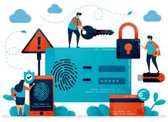 Fingerprint Recognition Technology For User Id Security. Finger Touch Scanner App To Secure Personal Information Data. Cyber Security Protection Identification For Protect Payment. Cyber Awareness, Scanner App, Fingerprint Recognition, Doodle Cartoon, Mission Control, Free Vector Art, Creative, Illustration, Vector Freepik