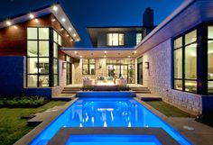 Cat Mountain Residence #modern #home and #pool located in Austin Texas. Conceived as a #remodel and addition, the final #design iteration for this home is uniquely #multifaceted.