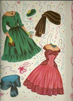King Queen Uncut Original Saalfield 1326 Mardi Gras Theme Paper Dolls | eBay