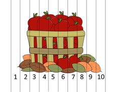 Here's an apple themed number order puzzle for numbers 1-10.