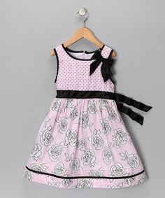 Take a look at this Pink & Black Polka Dot Dress - Infant, Toddler & Girls   by Shades of Summer Collection on #zulily today!