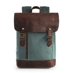 2016 Fashion Unisex Canvas Leather Computer Backpack Women School Bags For Teenage Girls Boys Bookbags Vintage Laptop Backpacks #Happy4Sales #backpack #bag #handbags #highschool #L09582 #shoulderbags #YLEY
