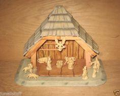 Vintage Made in Italy Italian Detailed Christmas Nativity Scene