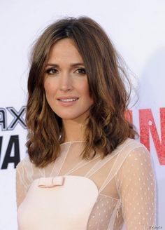 Rose Byrne rocked her mid-length hair with messy waves at 'The Internship' premiere at Regency Village Theatre in Westwood, Los Angele...